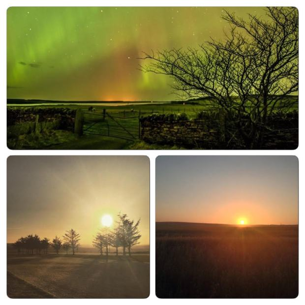 The Northern Lights in Caithness and evening skies around Thurso