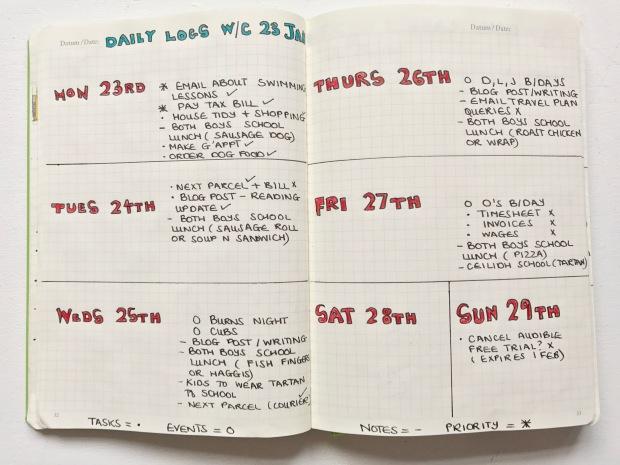 bullet-journal-daily-logs