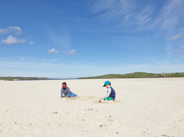 Boys on Uig Beach