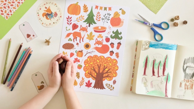 Autumn Crafts and Sick Days