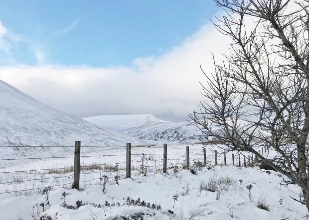 Snow Scottish Highlands
