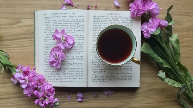 Flowers, Book and Teacup